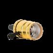 Алюминиевый патрон с выключателем золотой