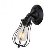 Настенный светильник в стиле лофт LN-6 (черный)
