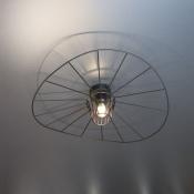 Потолочный светильник черный LADY, диаметр 60 см