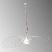 Светильник подвесной белый/красный LADY, диаметр 100, изогнутый