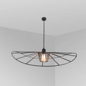 Светильник подвесной черный LADY, диаметр 60 см, изогнутый