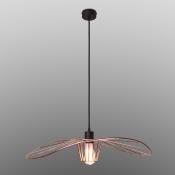 Светильник подвесной черный/медь LADY, диаметр 60 см, изогнутый