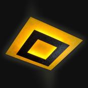 Светильник припотолочный 80х80 см черный / золото Vesuvius