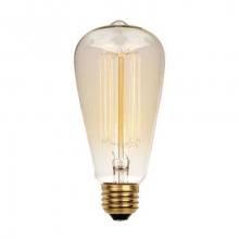 Лампа Эдисона E27 ST64 40W 2700K Amber 220V
