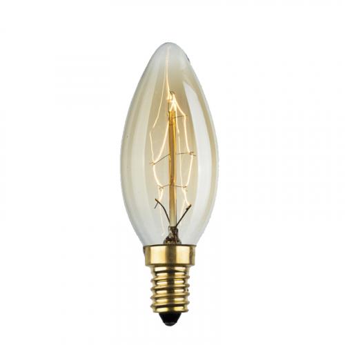 Лампа Эдисона E27 С35-40W 2700K Amber 220V