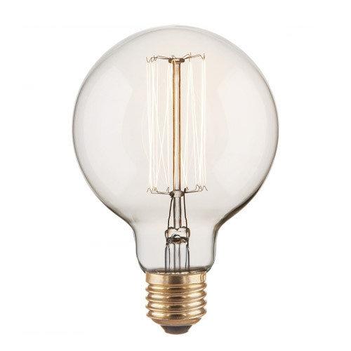 Лампа Эдисона E27 G95 40W 2700K Amber 220V