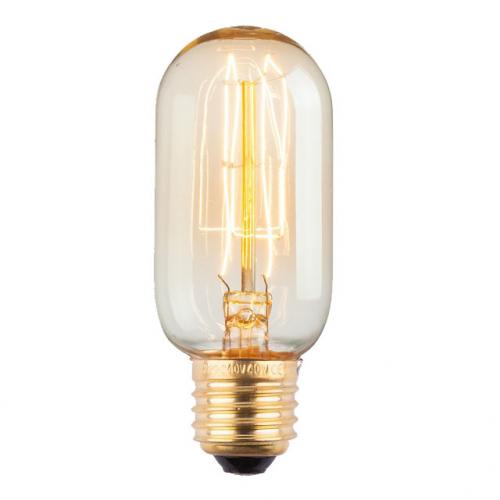 Лампа Эдисона E27 T45 40W 2700K Amber 220V