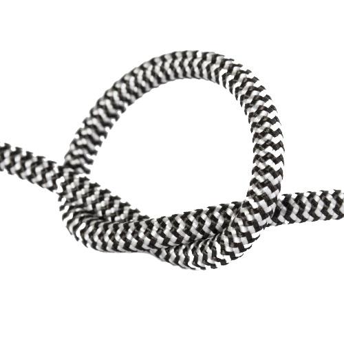 Провод в тканевой оплетке черно - белый
