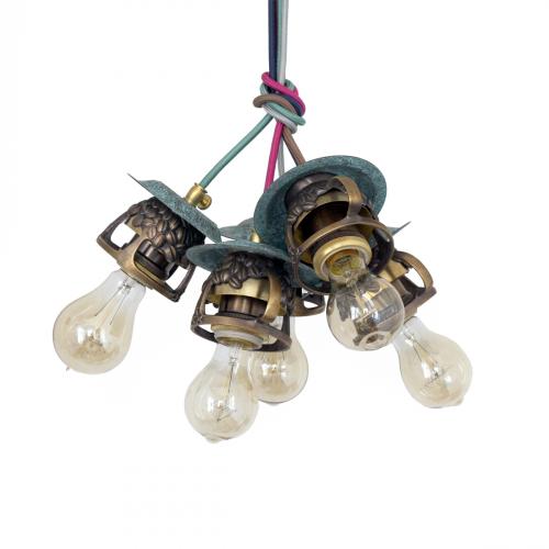 Подвесной светильник PS-13 (коричневый)